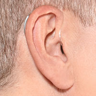 BTE hearing aid in ear